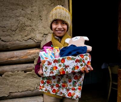 Weihnachten im Schuhkarton Verteilungen mit Geschenke der Hoffnung in der Slowakei, 2013. Fotos: David Vogt